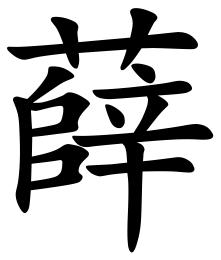 Asal Usul Marga Xue (薛)