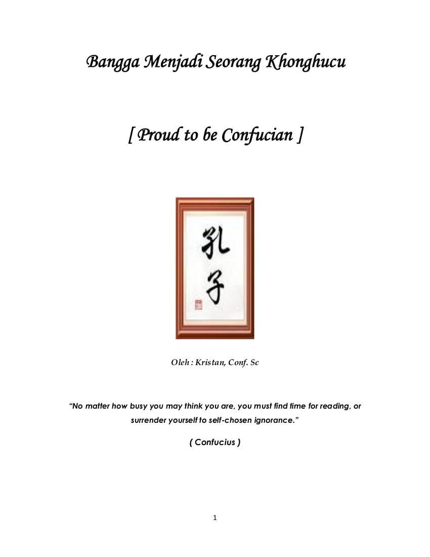 Bangga Menjadi Seorang Khonghucu ( Proud To Be Confucian )
