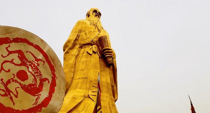 Patung Laozi di Han Gu Guan (函谷关)