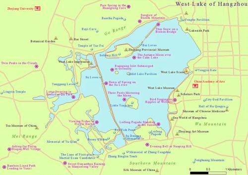 Peta Danau Barat, Lokasi Makam Yue Fei