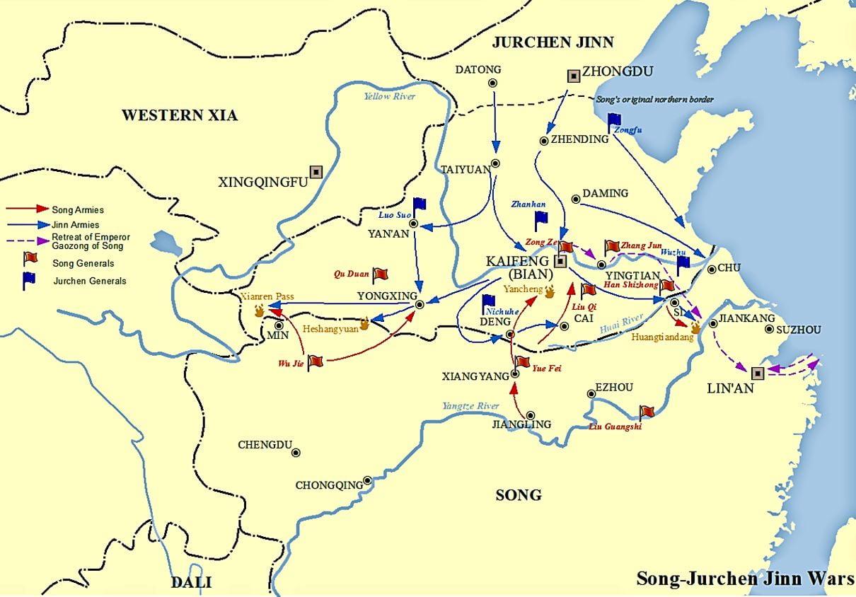Peta Perang Song & Jin Dalam Ekspedisi Yue Fei