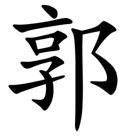 Asal Usul Marga Guo (郭)