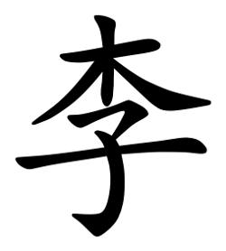 Asal Usul Marga Li (李)