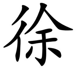 Asal Usul Marga Xu (徐)